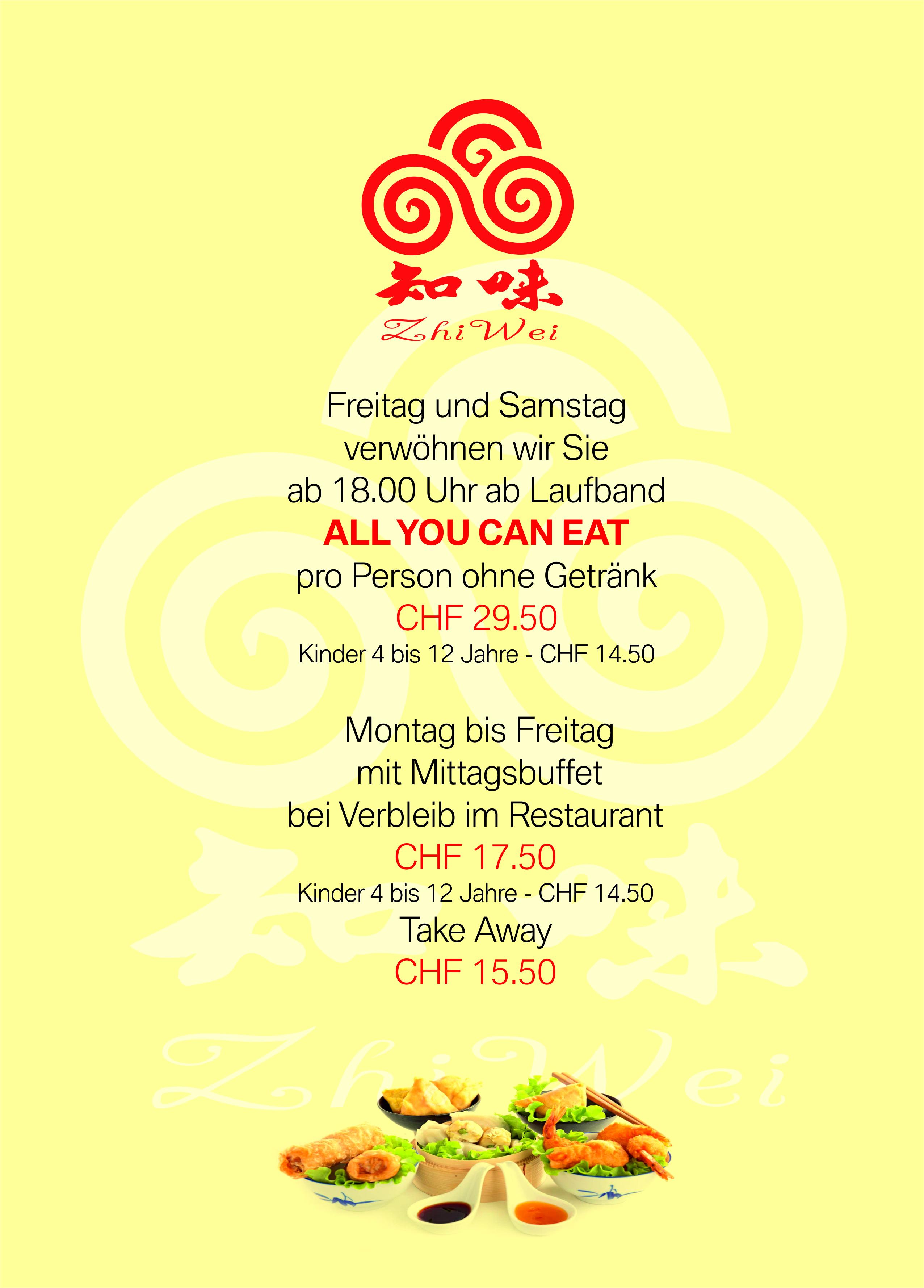Restaurant Zhi Wei Rapperswil_Mittagsbüffet und Laufband_März 2019